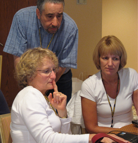 Educators working in a group
