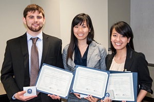 Patrick Medeo, Anh Ly, Mai-Linh Bui - winners of the 2013 Case Competition