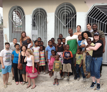 Drexel Students at Love Orphanage in Haiti