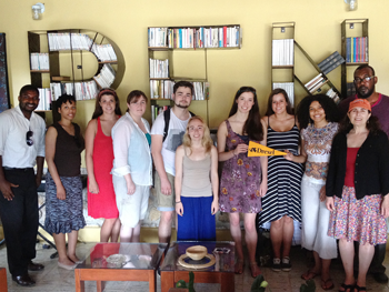 Drexel Students at PEN International mansion in Haiti