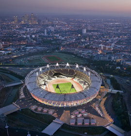 View of the Olympic Stadium in London