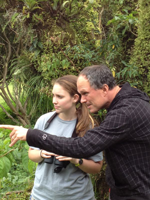 Dr. Sean O'Donnell and Emily Johnson doing field research in Monteverde, Costa Rica
