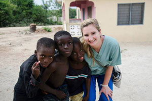 Jenn Everett was among the Drexel students to make a Global Medical Brigades trip to Ghana over winter break.