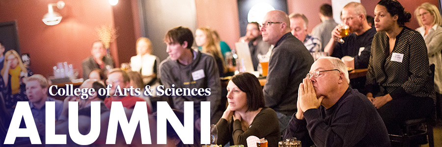 College of Arts and Sciences alumni attend 'The Creative Brain' lecture held at the Flying Fish Brewery in 2018