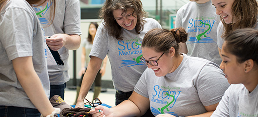 Story Medicine is Community-Based Learning Course in fiction writing and collaborative creative processes that engages pediatric patients receiving treatment at local hospitals.