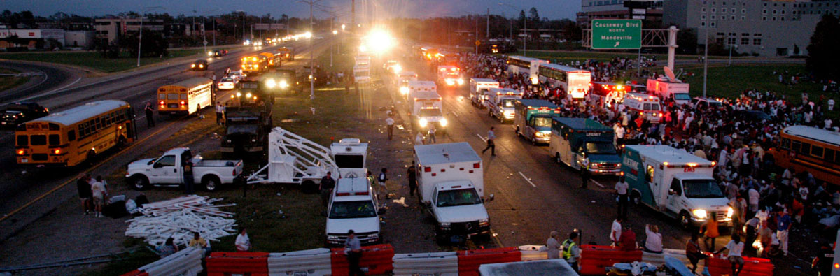 Staging Area for Rescue Operations 4 hours after Hurricane Katrina