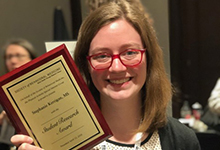 Stephanie Kerrigan receives the Physical Activity SIG Student Research Award