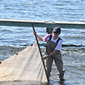 Student using nets at Drexel's Environmental Science Leadeship Academy Summer 2016