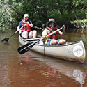 Student canoeing at Drexel's Environmental Science Leadeship Academy Summer 2016