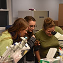 Students in the lab at Drexel's Environmental Science Leadeship Academy Summer 2016