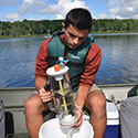 Student working on an experiment at Drexel's Environmental Science Leadeship Academy Summer 2016