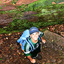 Student hiking at Drexel's Environmental Science Leadeship Academy Summer 2016