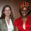 Dean of the College of Arts and Sciences Dr. Donna Murasko with Chimamanda Ngozi Adichie
