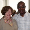 Eileen Brennen with Dr. Abioseh Porter