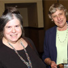 Dr. Miriam Kotzin, Director of Certificate Program in Writing and Publishing, with Dr. Ingrid Daemmrich