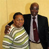 Dr. Abioseh Porter with parent