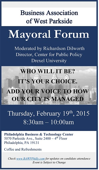 Mayoral Forum Flyer