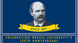 Drexel 125th Anniversary Gold Beer Label