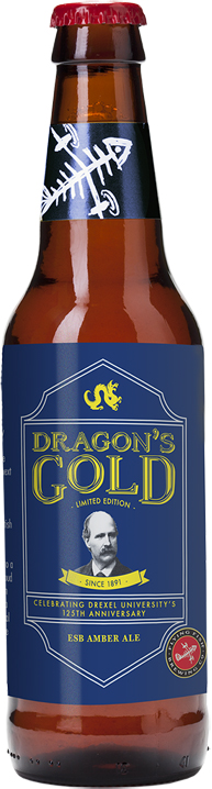 dragon gold beer bottle