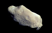 Asteroid in outer space