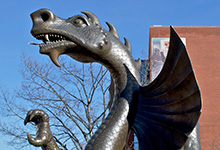 Mario the Dragon Drexel University Statue
