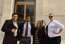 STS Graduate Students Dalton George '17, Jason Ludwig '17, Kristy Birchard '17, and Janine Bower '18 at STGlobal.