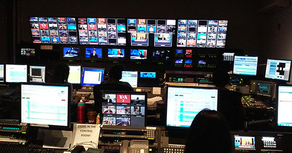The Control Room for Voice of America, photo by Sharee Devose
