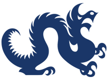 Drexel Dragon Logo Blue