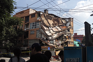 A collapsed home in Mexico City after the earthquake September 2017