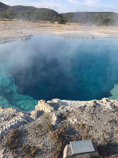 Sapphire Pool, Yellowstone National Park. Photo by Drexel University student Nick Barber