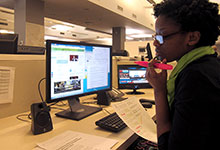 Sharee Devose while on Drexel Co-op at Voice of America in Washington, D.C.