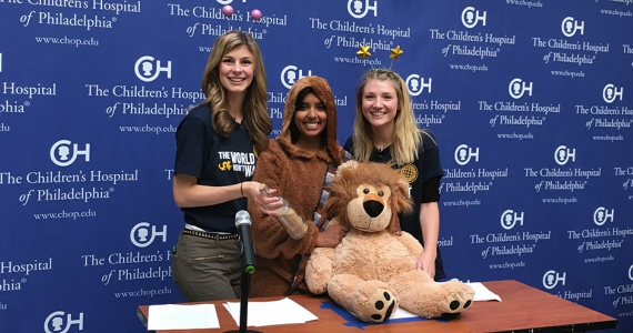 Students from Drexel's Story Medicine class at the Children's Hospital of Philadelphia