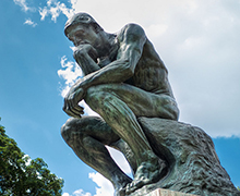 The Thinker by Auguste Rodin. Photo by Mustang Joe