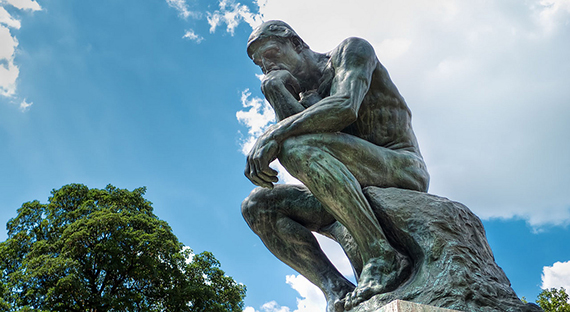 The Thinker by August Rodin. Photo by Mustang Joe
