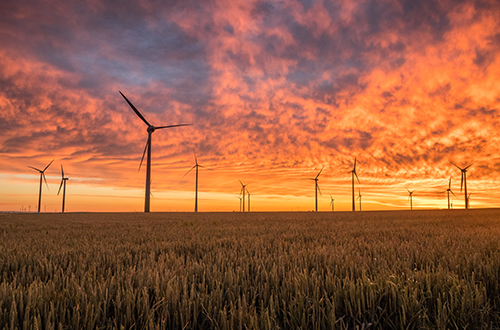 Renewable energy sources, wind turbines