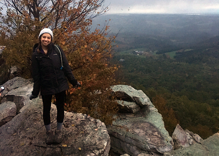 Anika Arose, trip leader for Weekend Warriors (student-run outdoor club at Drexel)