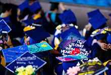 Decorated Drexel Graduation Caps 2018