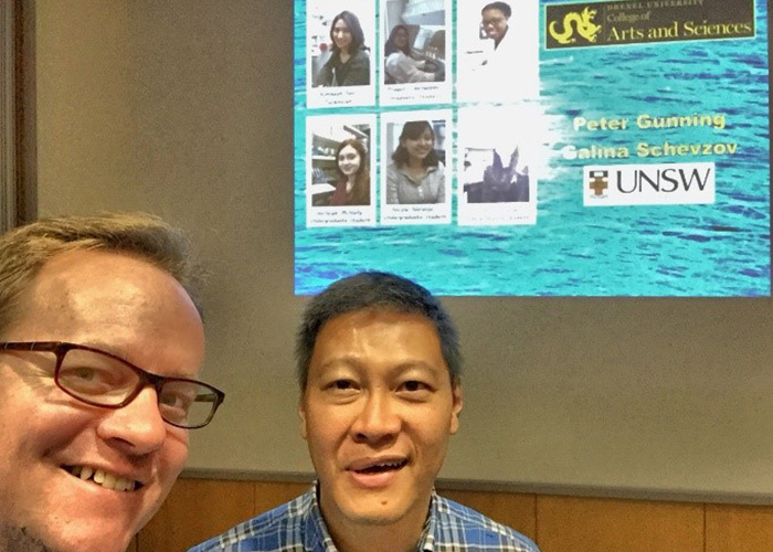 Ryan Petrie, PhD, with collaborator Joe Chan, PhD