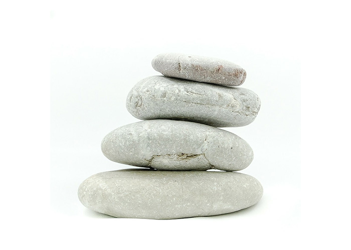White stones stacked on top of each other