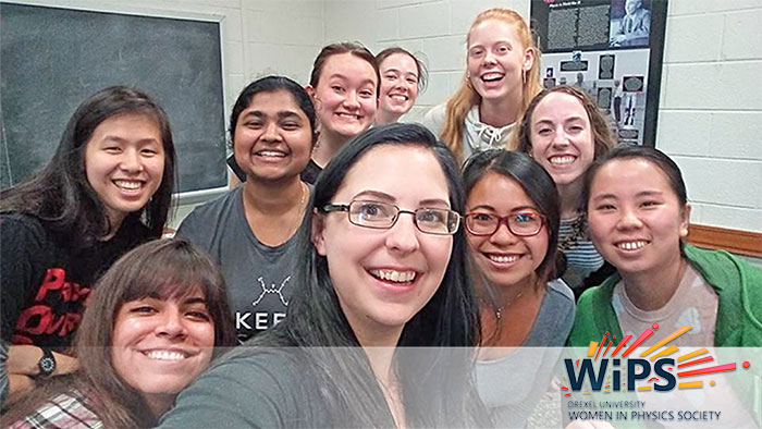 Members of WiPS, the Drexel University Women in Physics Society, are passionate about physics and the issues faced by women in science