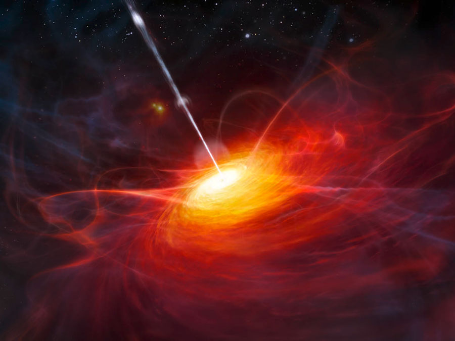 Rendering of the Heart of a Quasar. Image Credit: ESO/M. Kornmesser