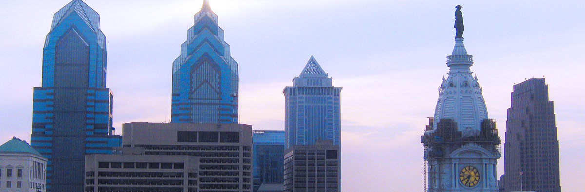 Philadelphia skyline with city hall