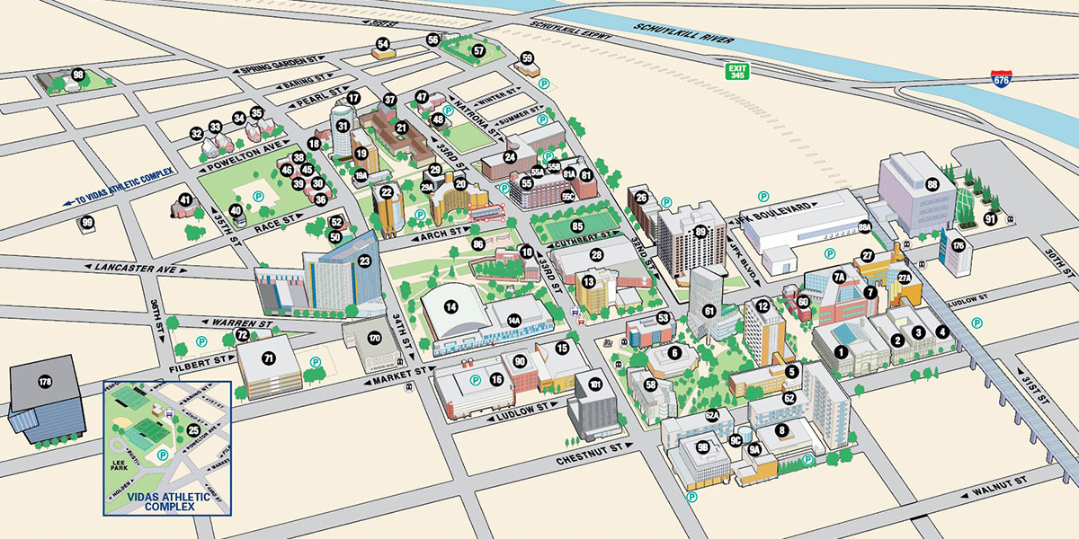 Drexel Campus Map University City Campus Map | Drexel University