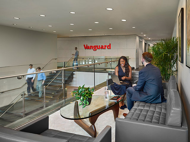 Interior shot of Vanguard business offices