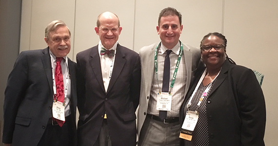 Photo of Michael Yudell, second from right, wins American Public Health Award for Book Challenging the Use of Race in Genetic Research