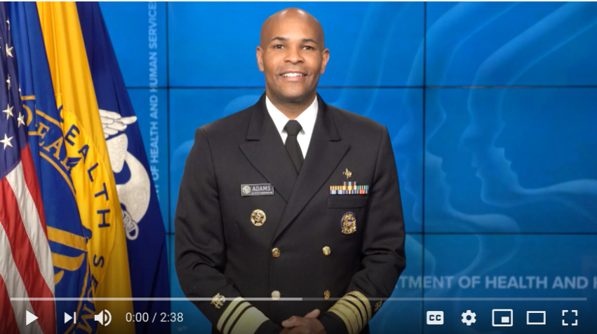 US Surgeon General Dr. Jerome Adams