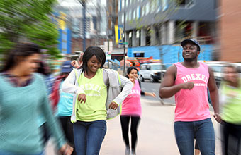 Dornsife Students participate in flash mob for National Public Health Week