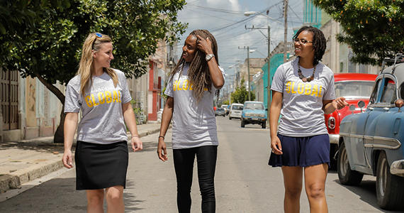 Photo of Drexel students in Cuba, image by Idris T. Robinson, MPH, Office of Global Health