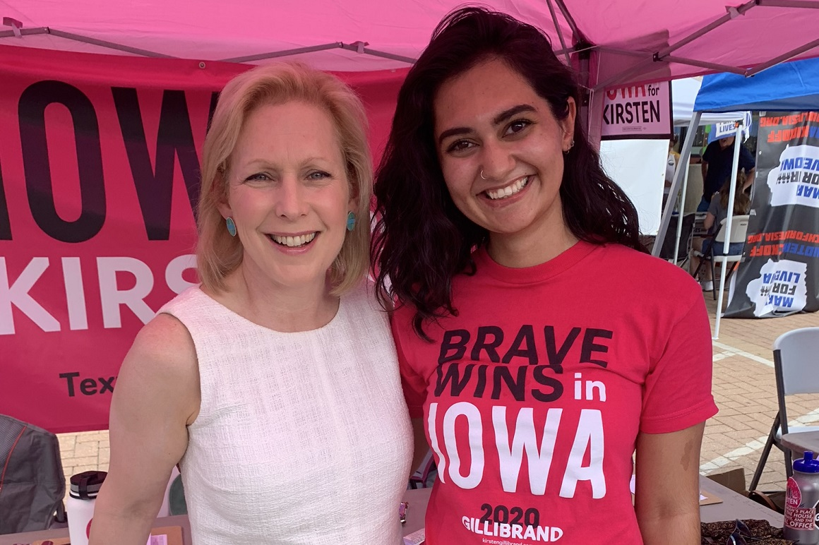 Marisa Bremer and Senator Gillibrand at campaign event