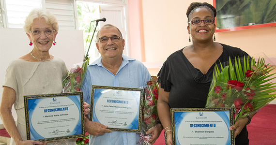 Shannon P. Marquez receives award for educational partnerships with cuba